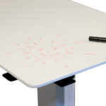 Adjustable table for home office (whiteboad)2